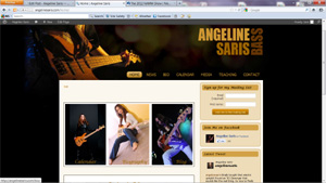 Angeline Saris Web Site
