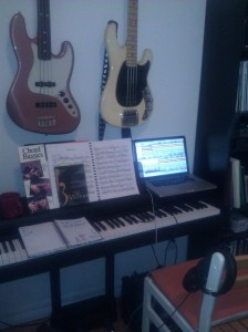 Angeline's practice space