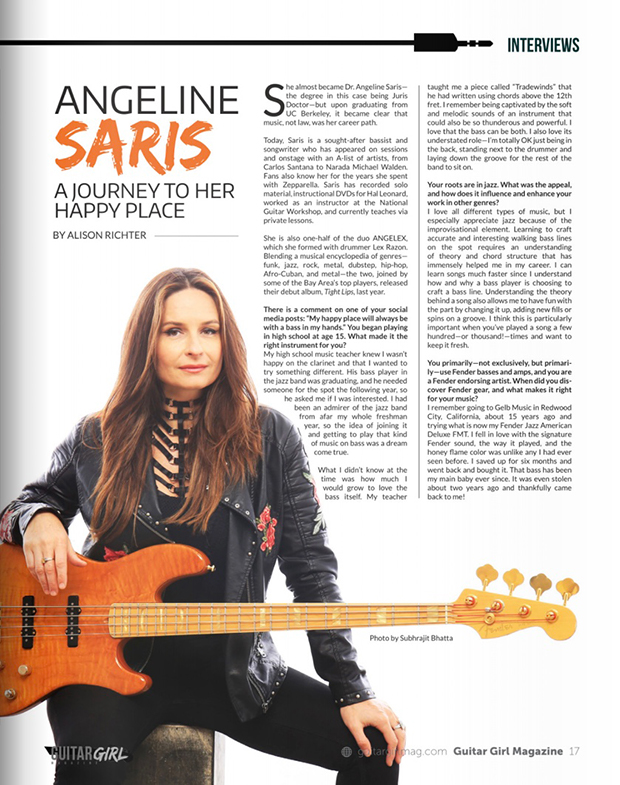 Spring 2019 Guitar Girl Magazine Interview with Angeline